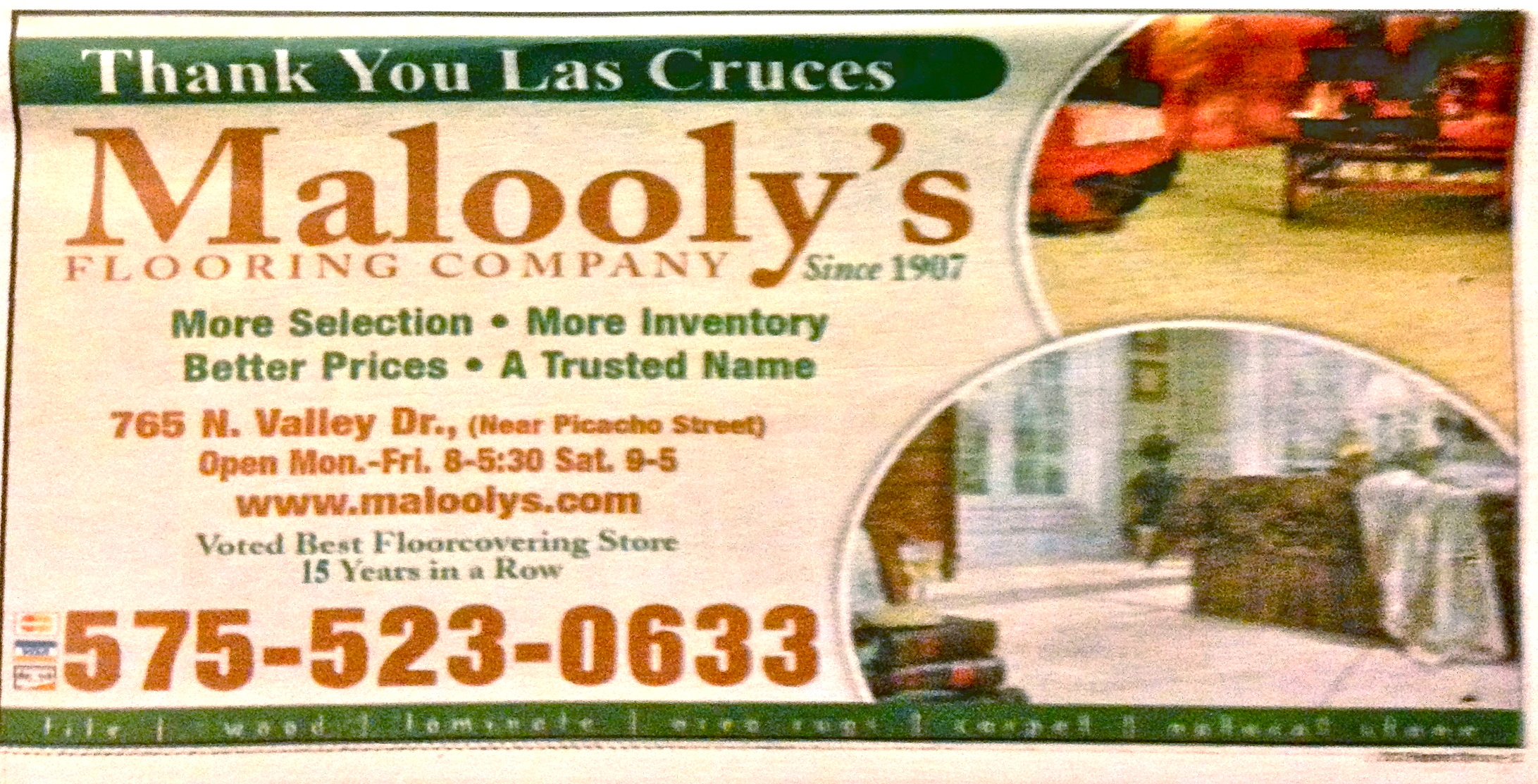 Thank you Maloolys ad